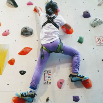 Climbing as a Family at Climb Central