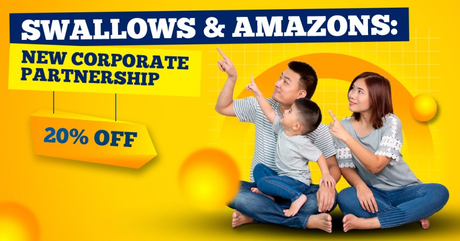 Swallows & Amazons: New Corporate Partnership - 20% Off