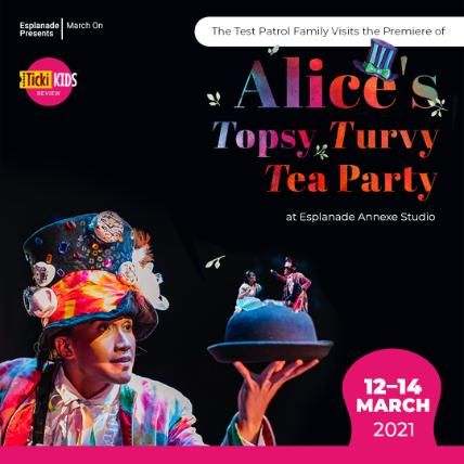 The Test Patrol Family Visits the Premiere of Alice's Topsy Turvy Tea Party at Esplanade Annexe Studio