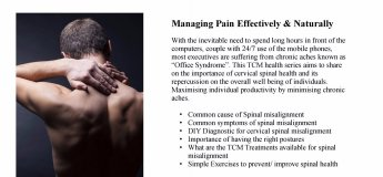 Lunchtime Talk : Managing Pain Effectively & Naturally