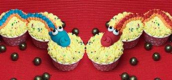 Twin Dragon Orange Cupcakes